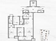 B户型约115㎡三室两厅两卫