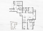 C户型约125㎡三室两厅两卫